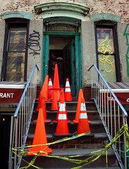 (Goggla) Tags: new york nyc orange village cone east stoop tenement