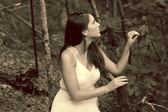b6728 (Shana Smith) Tags: sepia vintage photoshoot barbedwire oldsouth