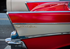 bel air fin (S Crume) Tags: red chicago classic chevrolet belair car automobile tail chevy fin