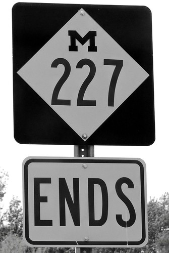 MI, Marshall-I69 End MI 227 Sign