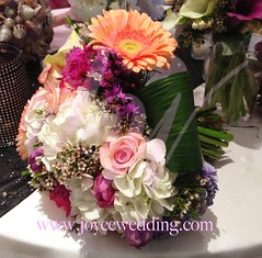(Joyce Wedding Services) Tags: flowers wedding summer orange white fun colorful purple tulips gerbera excellent daisy theme greenery bouquet choice bridal mixture hydrangeas fillers energetic uploaded:by=flickrmobile flickriosapp:filter=nofilter