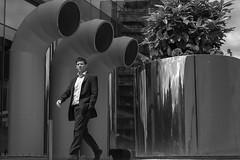 P1040919-1-2 (Lawrence Holmes.) Tags: street uk blackandwhite reflection lumix mono leeds streetphotography g2 clocked