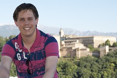 Richard in front of Alhambra