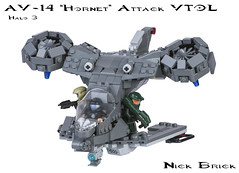 "AV-14 ""Hornet"" Attack VTOL (Nick Brick) Tags: lego attack halo hornet vtol halo3 unsc brickarms halo4 brickforge av14 nickbrick"