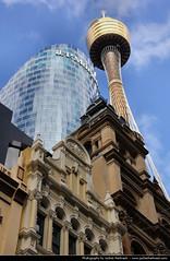 Sydney Tower & Westfield Tower, Sydney, Australia (JH_1982) Tags: new travel travelling tower wales canon eos south sydney australia nsw australien traveling westfield tamron australie 18mm 澳大利亚 シドニー オーストラリア 悉尼 270mm австралия 60d 오스트레일리아 сидней sídney
