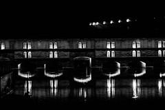 Bridge (Mathieu Thiebaut | http://www.mathieuthiebaut.com) Tags: bridge light blackandwhite water night reflections shoe flickr noiretblanc meeting strasbourg reflets reflects flickriver