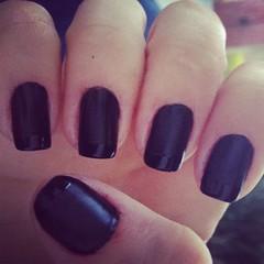 (camila magalhaes10) Tags: black preto unha fosco francesinha cremoso