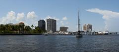 West Palm Beach (PangolinOne) Tags: panorama usa america marina boat unitedstates florida places westpalmbeach panasonic riverlake lakeworthlagoon panasonicdmcfz38 dmcfz38