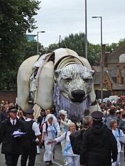 (JudyGr) Tags: london giant march puppet protest shell greenpeace demonstration polarbear aurora dsc06075 savethearctic