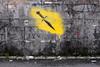 Oh, the irony (Little Big Joe) Tags: streetart norway graffiti norge stencil weapon parody bergen dolk x100s