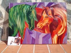 (paraisoalicantino) Tags: color verde luz caballos rojo amor magenta vida naranja violeta pasion ternura fuerza trazos trotesueños
