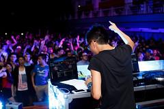 DJ Kenny. (WeyQing) Tags: blue art college night concert dj sigma event malaysia spinning rave edm sunway trance beats 30mm
