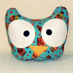 Almofada Corujas - Owl Pillow (bruna.cosini) Tags: home brasil bag skull tissue pillow owl coruja patch decor caveira almofada tecido pou