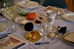 Passover Seder (Alexander C. Kafka) Tags: flowers holiday flower cooking fruit feast table jewish judaism setting elijah passover seder charoset havdalah kiddush