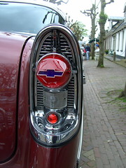 1956 Chevrolet Bel Air, detail (Davydutchy) Tags: auto light usa holland classic chevrolet netherlands car automobile rear may chevy chrome american vehicle friesland 2015 frysln langweer langwar achterlicht