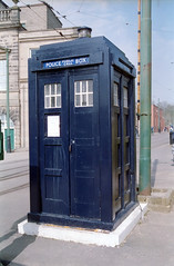 TARDIS - National tramway museum - Crich (Ronald_H) Tags: uk holiday film museum box who police national doctor tardis expired tramway crich 2015