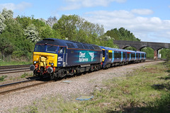 57306 Wellingborough (Gridboy56) Tags: railroad train northamptonshire trains emu locomotive railways derby locomotives unit wellingborough ramsgate southeastern drs class57 57306 derbyrtc 375301 5z57