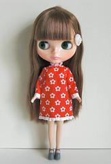 red smock dress