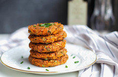 Kohlrabi Carrot Fritters (healthyongreen) Tags: food vegetables work wow healthy delicious stunning appetizer veggies fritters
