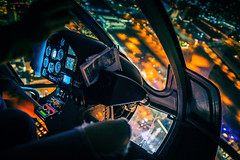 Day 301:366 : Cockpit (hidesax) Tags: 301366 cockpit night nightscape helicopter shooting nightview lasvegas nv usa hidesax sony a7ii nikkor 24mm f14g 366project2016 366project 365project