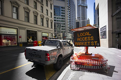 king_st_local_access-1-weba (mfunnell) Tags: kentstreet kingstreet georgestreet kentst kingst georgest sign roadwork sydney nsw newsouthwales australia zeiss carlzeiss cz distagon 18mm 18mmf4 184