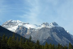 Beautiful Snowy Mountain - Alberta, Canada. (BrittanyProshen) Tags: mountain nature photography hills britishcolumbia albertacanada canadian roadtrip forest trees wilderness