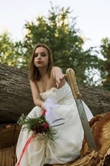 Bride 7 (Javier A. Rodrguez) Tags: novia bride ramo bouquet girl model modelo machete dress vestido flower flowers flores