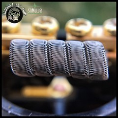 Help save vaping! august8th.org  _ Name of coil: Staple Staggerton  _ Specs: 12 ply of .3 KA1 ribbon, framed with 2 pcs of 30G N80, staggered clapton with 38G N80 - .18 Ohms single coil - coil built on my GOON RDA by @528_custom_vap (Clapton_Jack) Tags: instagramapp square squareformat iphoneography uploaded:by=instagram coilporn coilart coils coilover coilsmith coilarchitect vape vapor vaping vapestagram vapenation vapeporn vapelyfe wireporn macro dripclub eliquid subohm ejuice vapefam clapton claptoncoil buildlyfe cloudchaser art photography vapephotography intricatevapebuilds vapepornbuild vapecommunity