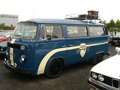 VW Bus T2 (911gt2rs) Tags: treffen meeting show event tuning tief low stance bulli transporter oldschool blau blue dunkelblau