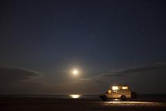 Moonrise Over Camp (josephstampfl) Tags: night sky stars nighttime beach 4x4 4wdvan life camping