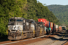 Three of a Kind (sullivan1985) Tags: train railroad railway ns norfolksouthern pa pennsylvania pittsburghline ge generalelectric sit intermodal westbound stacks freighttrain freight d944cw dash9 ns9145 ns9313 ns9043 cove duncannon
