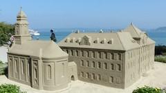 Schloss der Insel Mainau, aus Sand gebaut