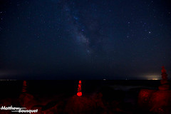 Red Beach (Matthew Bousquet) Tags: beach space red blue night long exposure astrophotographie astophotography milkyway water trippy stars galaxy