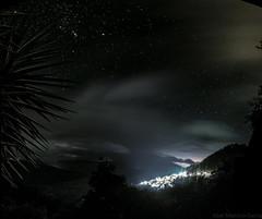 Diamantes (abel.maestro) Tags: sevilla 34 sky city travel night light clouds lights stars spain long exposure estrellas noche nocturna eurpoa andalucia malaga genal