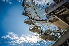 London Eye (graser.robert) Tags: london eye riesenrad sun cloud blue sky unusual weather explore britain ferriswheel robertgraser nikon clouds wolken grosbrittanien sehenswrdigkeit perspektive landscape