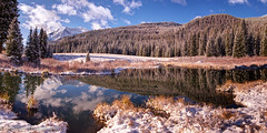 An Early Snow (OJeffrey Photography) Tags: beaverpond reflection co colorado coloradorockymountains snow panorama pano ojeffrey ojeffreyphotography jeffowens nikon d800