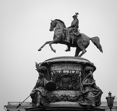 Tsar statue with the horse (phuong.sg@gmail.com) Tags: architecture art blue cavalry city coppery culture czar emperor excursion exterior fame famous form founder granite great historic horse horseman iron memorial metal monument mount outdoors peter petersburg place ride russia russian saint saintpetersburg sculpture shape sights silhouette sky square statue stone summer sun symbol tourists tsar tzar