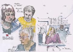 Rendez-vous a Clermont (gerard michel) Tags: france clermontferrand urbansketchers rendezvous sketch croquis