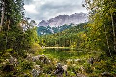 Frillensee am Eibsee (Fliwatuet) Tags: alpen alps ammergaueralpen bavaria bayern deutschland em5 garmischpartenkirchen germany grainau herbst mft olympusomd zugspitze zugspitzregion de