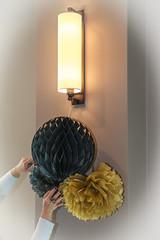Decorated lamp (vale0065) Tags: decoration decoratie lamp wall muur light licht binnen hands handen nailpolish nagellak nails rings ring ringen canon collor kleur colour globe bol gold goud black zwart
