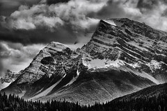 DSC_2280-Edit-2-EditFAA (john.cote58) Tags: outside outdoors nature landscape alberta icefieldsparkway canada pine forest trees sky clouds mountain camping snow mist glacier blackandwhite monotone wind icecaps cold