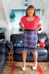 Skirt (Trixy Deans) Tags: crossdresser cd cute crossdressing crossdress classic classy cocktaildress satin satindress pencilskirt tightjeans jeans tgirl tv transvestite transgendered transsexual tranny trixydeans tgirls transvesite trixy trans tg