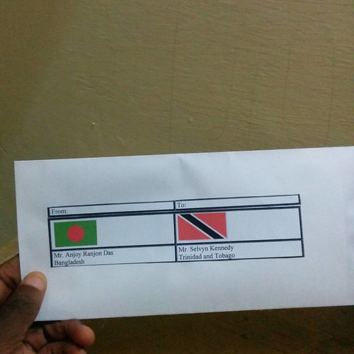 Just got a letter from my friend Bangladesh ... #Thank You :-)