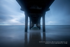Bridge to Hope (rkpunnamraju) Tags: storm clouds california ocean water longexposure losangeles manhattan beach shore outdoor travel