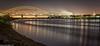 Sunset reflections (1 of 2) (andyyoung37) Tags: runcorn runcornbridge therivermersey uk wiggisland cheshire twighlight england unitedkingdom gb