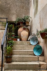 Erice Sicily (kendo1938) Tags: trapani sicily italy ita erice steps flowers flowerpots teracotta terroccota
