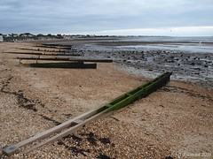 Meon Beach (ExeDave) Tags: pa271779 meon beach thesolent hillhead fareham hampshire se england gb uk coast shore sea seafront seaside landscape seascape october 2016 groyne pebbles tidal lowtide