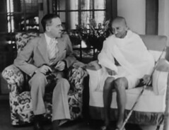 Cripps and Gandhi (Doc Kazi) Tags: pakistan india independence negotiations ceremonies jinnah gandhi nehru mountbatten viceroy wavell stafford cripps edwina fatima muhammad ali
