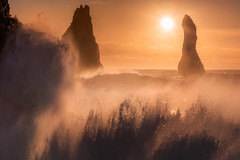 """Crash"" (ArnarKristjans_photography) Tags: phototours iceland sunrise black beach sunset orange seashore colors canon"