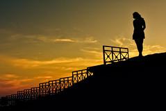 Sunset at Minori - Italy (Leo Teles) Tags: italy sunset sillouette minori sun pier port water